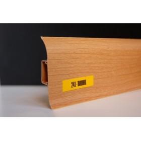 Пластиковый плинтус Идеал комфорт 55х22х2500 с кабель-каналом 241 Вишня