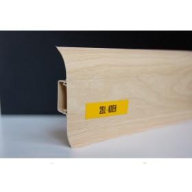 Пластиковый плинтус Идеал комфорт 55х22х2500 с кабель-каналом 261 клен