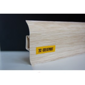 Пластиковый плинтус Идеал комфорт 55х22х2500 с кабель-каналом 262 Клен вермонт