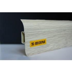 Пластиковый плинтус Идеал комфорт 55х22х2500 с кабель-каналом 263 Клен северный