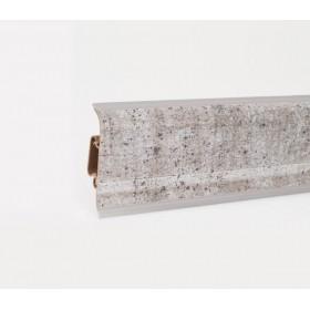 Пластиковый плинтус Korner (Кёрнер) Metallic Collection с кабель-каналом 58х21х2500 Antique Silver