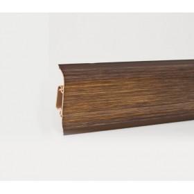 Пластиковый плинтус Korner (Кёрнер) Metallic Collection с кабель-каналом 58х21х2500 Brooklyn Gold
