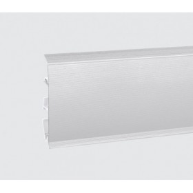 Пластиковый плинтус Korner (Кёрнер) Evo 70 с кабель-каналом 70х20.7х2500 Алюминий 25-70-0-002