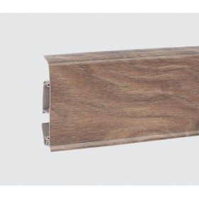 Пластиковый плинтус Korner (Кёрнер) Evo 70 с кабель-каналом 70х20.7х2500 Сандаловое дерево 25-70-0-004