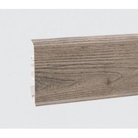 Пластиковый плинтус Korner (Кёрнер) Evo 70 с кабель-каналом 70х20.7х2500 Скалистый дуб 25-70-0-005