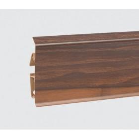 Пластиковый плинтус Korner (Кёрнер) Evo 70 с кабель-каналом 70х20.7х2500 Red River Hicory 25-70-0-006