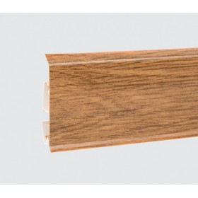 Пластиковый плинтус Korner (Кёрнер) Evo 70 с кабель-каналом 70х20.7х2500 Палёный дуб 25-70-0-009