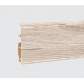 Пластиковый плинтус Korner (Кёрнер) Evo 70 с кабель-каналом 70х20.7х2500 Дуб Husky 25-70-0-014