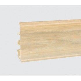 Пластиковый плинтус Korner (Кёрнер) Evo 70 с кабель-каналом 70х20.7х2500 Белый ясень 25-70-0-017