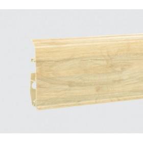 Пластиковый плинтус Korner (Кёрнер) Evo 70 с кабель-каналом 70х20.7х2500 Пастельный дуб 25-70-0-018