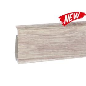 Пластиковый плинтус Korner (Кёрнер) Evo 70 с кабель-каналом 70х20.7х2500 Дуб Алебастр 25-71-0-024E