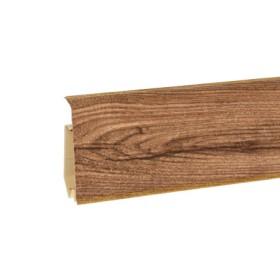 Пластиковый плинтус Korner (Кёрнер) Evo 70 с кабель-каналом 70х20.7х2500 Дуб замковый 25-71-0-029Е