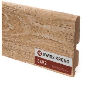 Плинтус МДФ ламинированный Kronopol P85 3492, Swing Walnut, 2500х85х16мм, 9шт/уп
