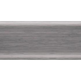 Пластиковый плинтус Rico Leo 56х22х2500 с кабель-каналом 102 Ольха серая