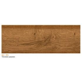 Пластиковый плинтус T.plast (58 мм) с кабель-каналом 58х22х2500мм 081 Тиковое дерево