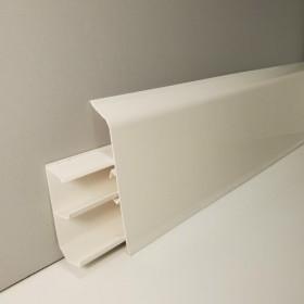 Плинтус Winart QUADRO с кабель-каналом 80х22х2200 Белый матовый 318
