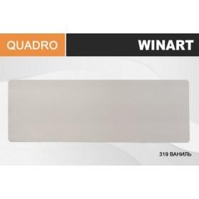 Плинтус Winart QUADRO с кабель-каналом 80х22х2200 Ваниль 319