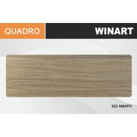 Плинтус Winart QUADRO с кабель-каналом 80х22х2200 Амаро 322