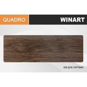 Плинтус Winart QUADRO с кабель-каналом 80х22х2200 Дуб гарвис 329