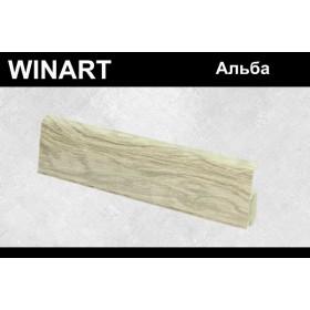 Плинтус Winart Tera с кабель-каналом 72х22х2200 Альба 746