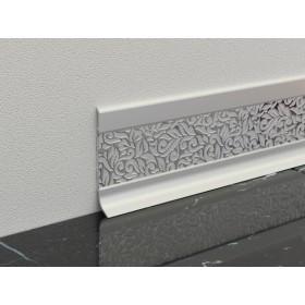 Алюминиевый плинтус Fezard ALP-60V Серебро 10х60 мм