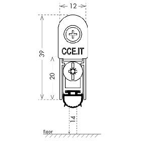 Автоматический порог Armadillo (Армадилло) EASY TREND SQ cod. ASTDSQ, B4/930