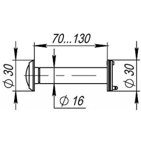 DVZ4, глазок, Fuaro (Фуаро) 16/200/70x130 (оптика пластик, угол обзора 200) CP Хром