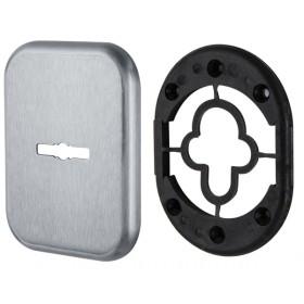 Декоративная Квадратная Armadillo (Армадилло) накладка на сувальдный замок PS-DEC SQ (ATC Protector 1) SC-14 Матовый хром