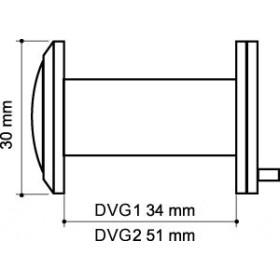 Глазок дверной, Armadillo (Армадилло) стеклянная оптика DVG1, 16/35х60 SN Мат. никель