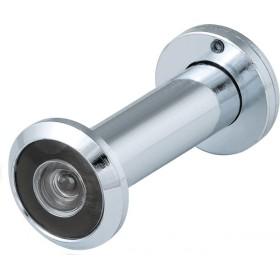 DVS3, глазок, Fuaro (Фуаро) 16/180/55x90 (оптика пластик, шторка сталь, угол обзора 180) CP Хром