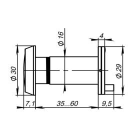 DVP1/NEW, 16/140/35x60 Punto (Пунто) (оптика пластик) CP Хром