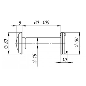 Глазок дверной, Armadillo (Армадилло) стеклянная оптика DVG3, 16/60х100 SN Мат. никель