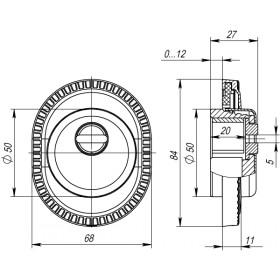 Броненакладка Armadillo (Армадилло) на ЦМ ET/ATC-Protector 1CL-25 AS-9 Античное серебро