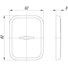 Декоративная Квадратная Armadillo (Армадилло) накладка на сувальдный замок PS-DEC SQ (ATC Protector 1) SN-3 Мат.никель