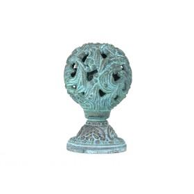 Дверная ручка Manzzaro Art 400 AG античная бронза (blue)