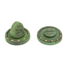 Накладка завертка Manzzaro Art BK AG античная бронза (green)