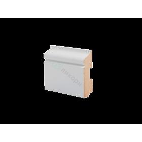 Плинтус напольный МДФ грунтованный под покраску Р 11.80.22 Ликорн 80 мм