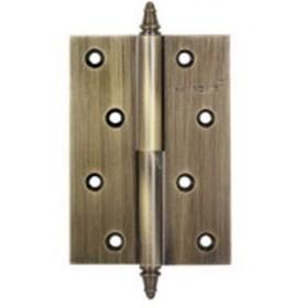 Дверные петли Archie A010-D 100X70X3-2B L (разъемная левая) с короной античная бронза