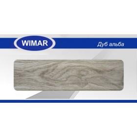 Плинтус Вимар - Wimar, с кабель каналом, 822 Дуб альба, 86мм.