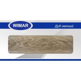 Плинтус Вимар (Wimar), напольный, с кабель каналом, 819 Дуб летний, 68мм.