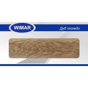 Плинтус Вимар - Wimar, с кабель каналом, 815 Дуб толедо, 86мм.