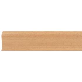 Плинтус ПВХ Line Plast L024 Бук светлый 2500х58х28 мм