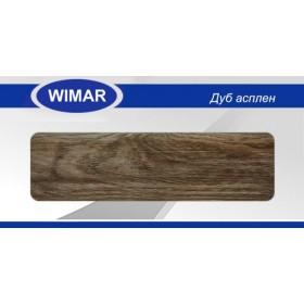 Плинтус Вимар - Wimar, с кабель каналом, 820 Дуб асплен, 86мм.