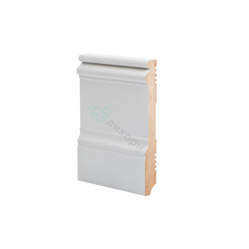 Плинтус напольный МДФ грунтованный под покраску Р 15.134.16 Ликорн 134 мм