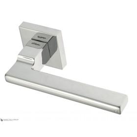 Дверная ручка на квадратном основании Fratelli Cattini SLIM 8-CR полированный хром