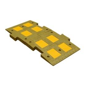 Искусственная дорожная неровность 1100 С желтого цвета