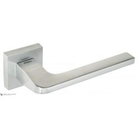Дверная ручка на квадратном основании Fratelli Cattini BOSTON 8-CS матовый хром