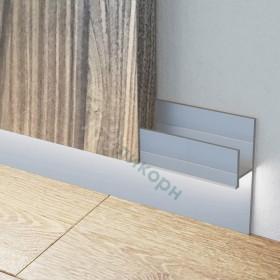 Скрытый плинтус / Теневой профиль Ликорн для крепления стеновых панелей C-02.2.2