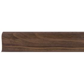 Плинтус ПВХ Line Plast L017 Орех тёмный 2500х58х28 мм