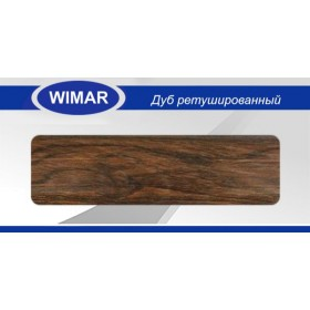 Плинтус Wimar (Вимар), ПВХ, с кабель-каналом 816 Дуб ретушированный, 58 мм.